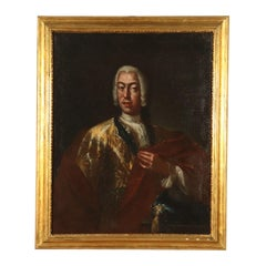 Portray of Nobleman Earl of Belgioioso 18th Century