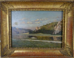 Post-Impressionism Landscape French School Late 19th Century Oil on Canvas