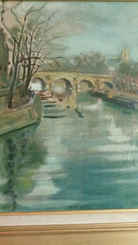 Post Impressionist Quai d'Anjou  landscape , Paris, 1930's For Sale 2