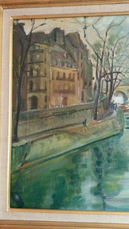 Post Impressionist Quai d'Anjou  landscape , Paris, 1930's For Sale 4