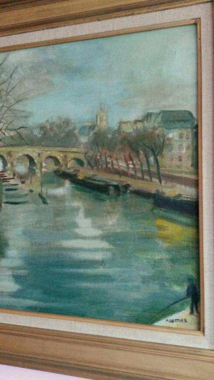 Post Impressionist Quai d'Anjou  landscape , Paris, 1930's For Sale 5