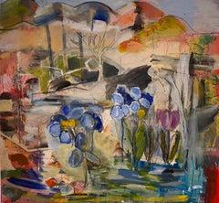 """""""Purple Tulip"""" oil on canvas by Steven"""