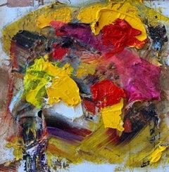 """""""Purple Yellow Red"""" oil on board by Steven"""