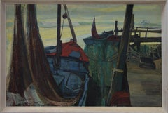 R. Courtney - 1959 Oil, The Fishing Boats