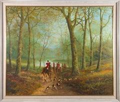 R. Marshall - Signed & Framed Contemporary Oil, Hunting Scene