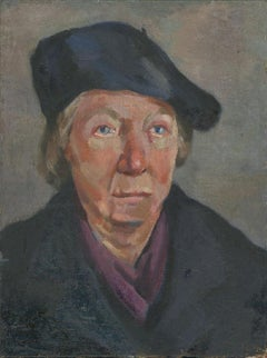 R. Peters - Mid 20th Century Oil, Portrait of a Woman in a Beret