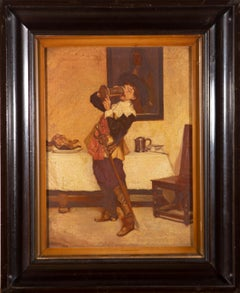 Ray - Fine Framed 1920 Oil, Jolly Cavalier