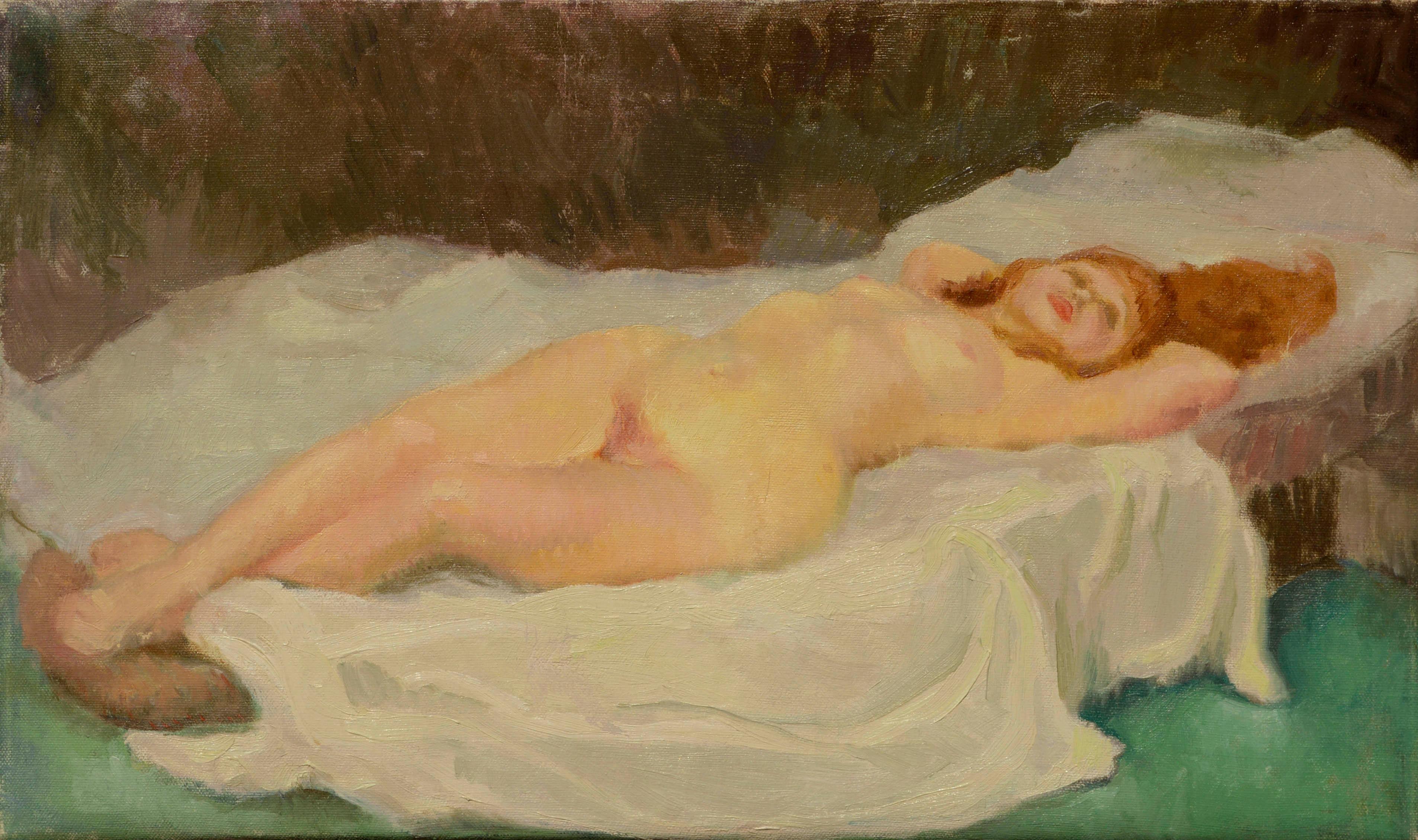 Reclining Female Nude Figure