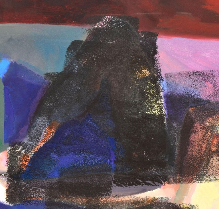 Reclining Figurative Abstract - Abstract Expressionist Painting by Unknown
