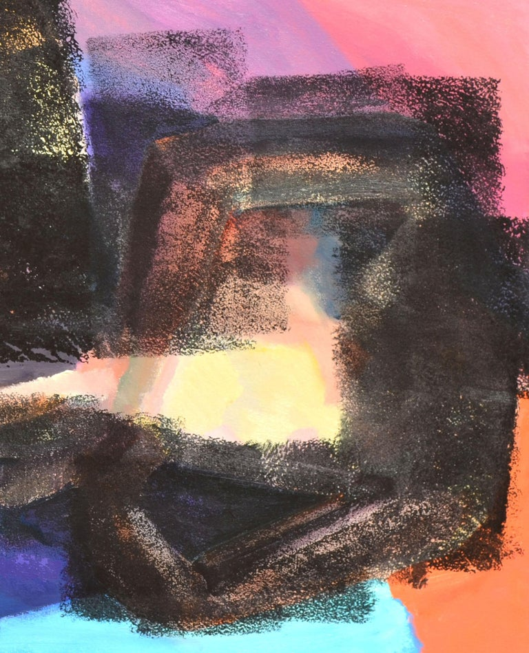 Reclining Figurative Abstract - Black Abstract Painting by Unknown