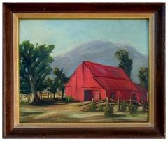 Red Barn Sierras Landscape