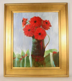 Red Bouquet Floral  Still Life Painting