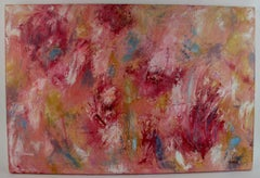 Large Red Floral Abstract