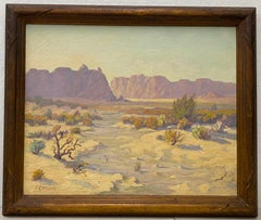 """Red Mesa, AZ"" Original Desert Landscape Painting c.1940s"