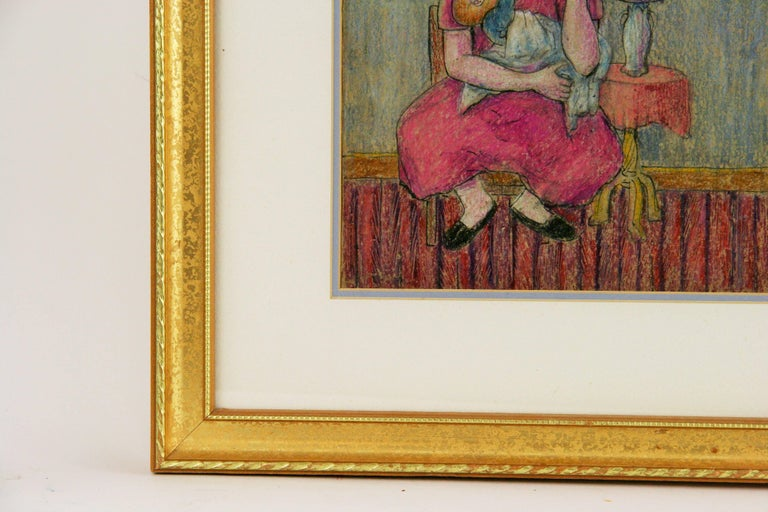 Resting Mother  with  Child Figurative Painting 2