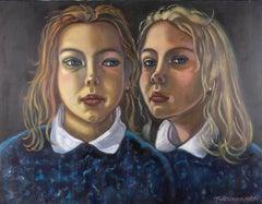 Richard Turneramon (1940-2013) - Signed c.2007 Oil, The Twins