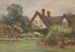 Robert Payton Reid ARSA (1859 -1945)- Signed Oil, Summer Cottage