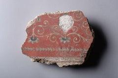 Roman Polychrome Fresco Fragment - 1st century AD