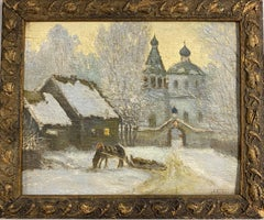 Russian Village Winter Scene