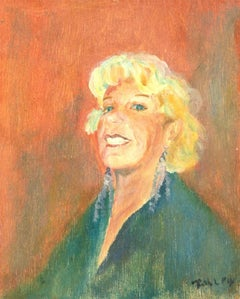Ruth L Foy - Signed 20th Century Oil, The Proud Woman in Orange
