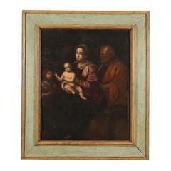 Sacred Family With Young Saint John Oil On Canvas '600