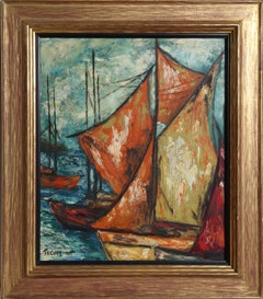 Sailing Ships, Oil Painting on Board