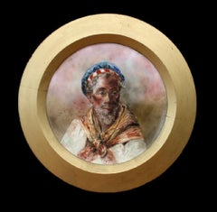 Sailor-Circular Framed Painting on Porcelain