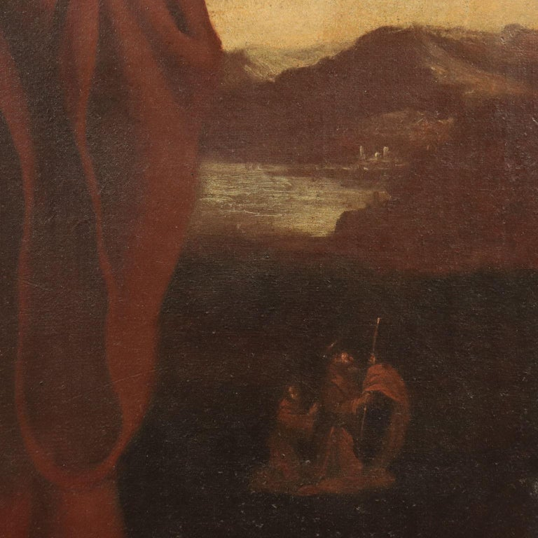 Saint Francis Of Paola Oil On Canvas 18th Century For Sale 2