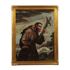 Saint Francis Oil on Canvas , 18th Century