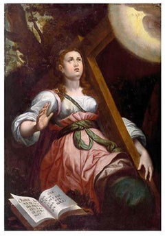 Saint Helena with the Cross - Oil on Canvas - Late 16th Century