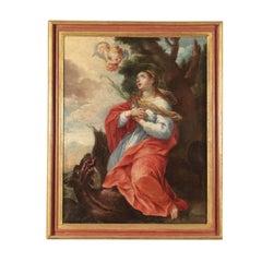 Saint Margaret, Oil on Canvas, 18th Century