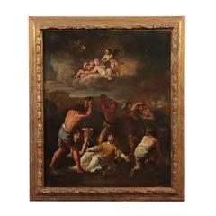 Saint Stephen's Martyrdom Oil on Canvas Center of Italy 18th Century