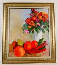 SALE STORE WIDE Orange Still Life Painting by Vance