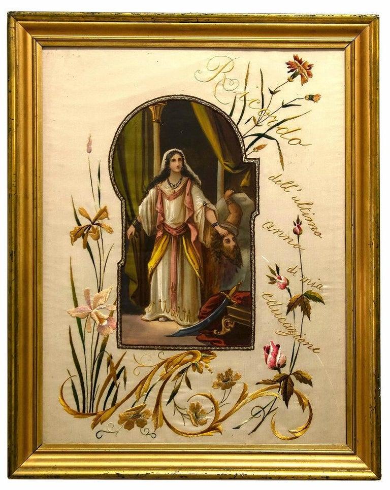 Unknown Figurative Painting - Salomè - Original Painting - 19th Century