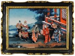 China School, Sanguo Yanyi: a Pair of Reverse Paintings on Glass.