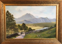'Scafell From Hardknott Pass' Landscape Oil Painting