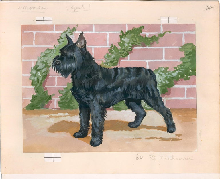Schnauzer Painting - Beige Animal Painting by Unknown