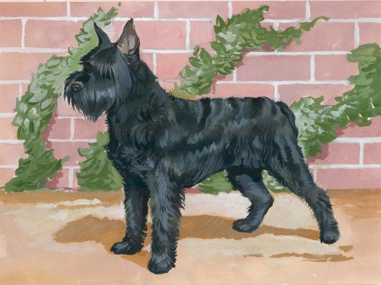 Unknown Animal Painting - Schnauzer Painting