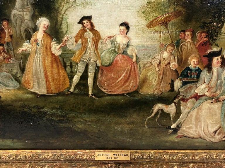 School of Jean-Antoine Watteau Fête Champêtre dans un Parc  - Rococo Painting by Unknown