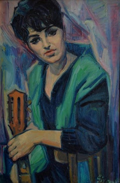 School of Paris, Barbara, Oil on Canvas, 1950s
