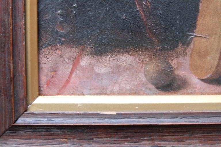Schoolboy with Cricket Bat - British Slade School art 30's portrait oil painting 8