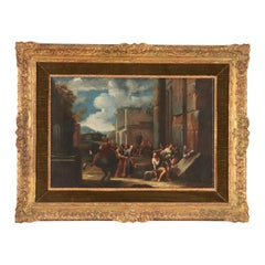 Scope Of Giovanni Ghisolfi Oil On Canvas 17th Century, Scene Of Arrest