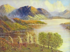 Scottish Highland Loch in the Summer signed oil painting