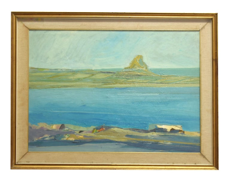 Unknown Figurative Painting - Seascape  - Oil on Canvas - Mid 20th Century