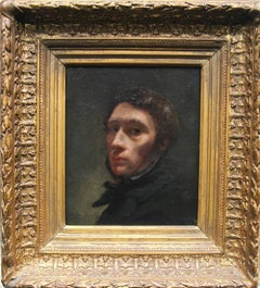 Self Portrait - Old Master 19th century art French male portrait oil painting