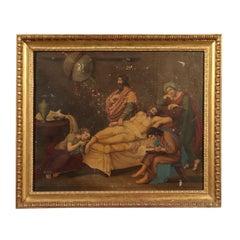 Seneca's Death Oil on Canvas 19th Century