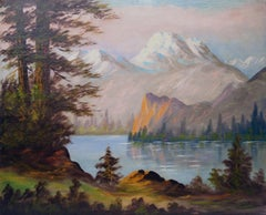 Serene Mountaintops Landscape