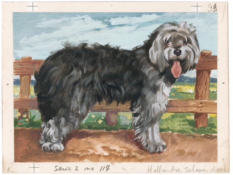 Sheepdog Painting - Gray Animal Painting by Unknown