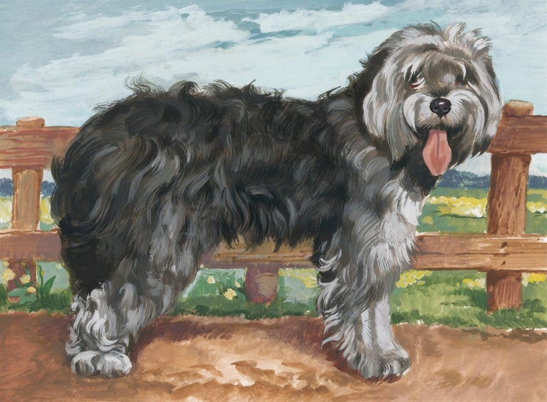 Unknown Animal Painting - Sheepdog Painting
