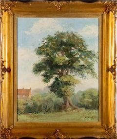 Sheila R. Michalski - Ornately Fraemed 1968 Oil, The Poringland Oak